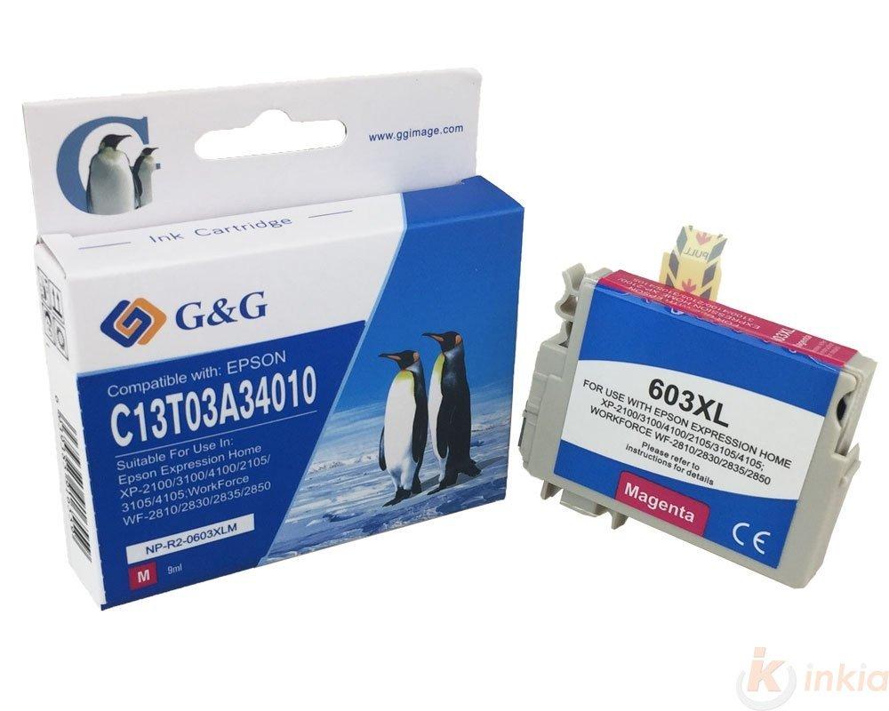 Cartouche PREMIUM de marque G&G compatible EPSON 603XL magenta