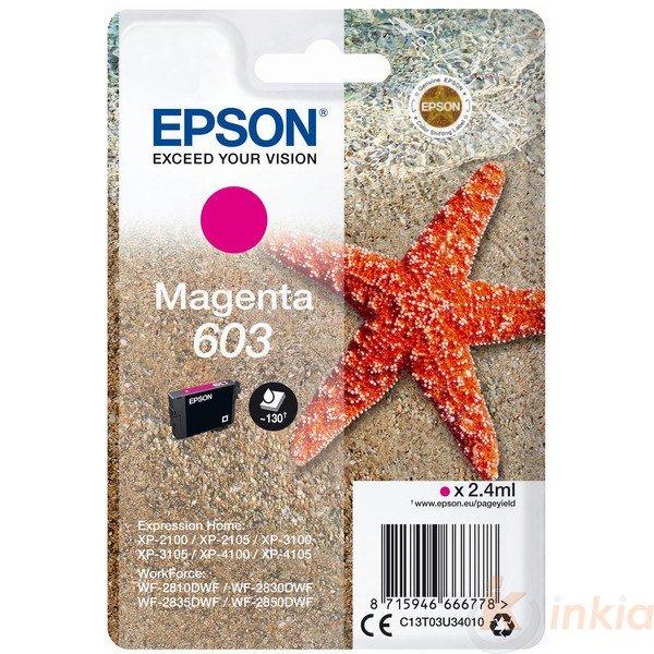 ORIGINAL Epson C13T03U34010 / 603 - Cartouche d'encre magenta