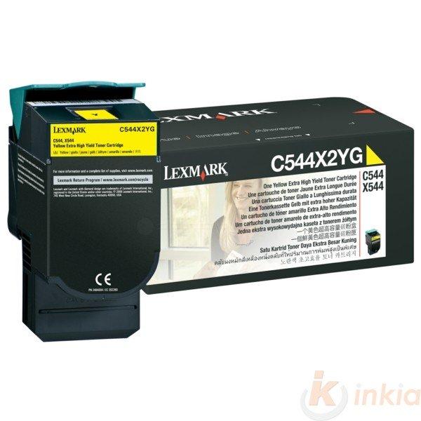 ORIGINAL Lexmark C544X2YG - Toner jaune